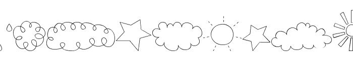 MTF Sweet Sky Dings Font UPPERCASE