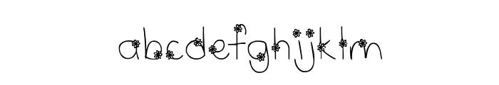 MTF Wildflower Font LOWERCASE