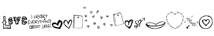 MTF i heart Sketches Font UPPERCASE