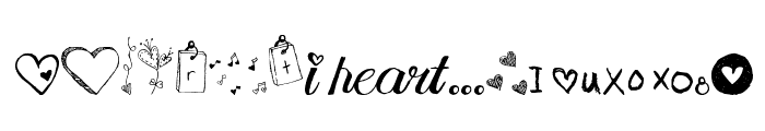 MTF i heart Sketches Font LOWERCASE