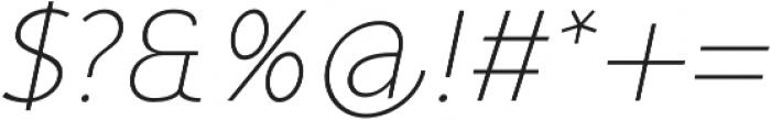 Mucho Sans Thin Italic otf (100) Font OTHER CHARS
