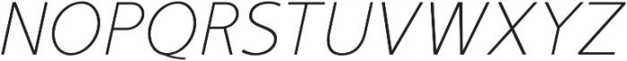 Mucho Sans Thin Italic otf (100) Font UPPERCASE