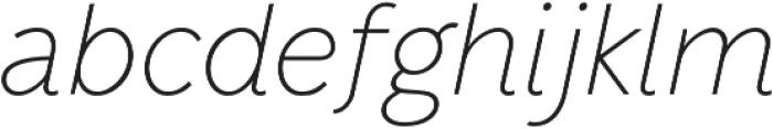 Mucho Sans Thin Italic otf (100) Font LOWERCASE