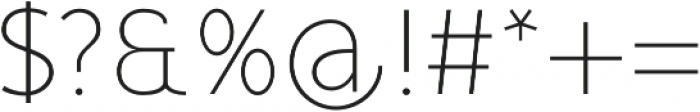 Mucho Sans Thin otf (100) Font OTHER CHARS