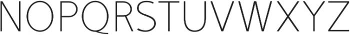 Mucho Sans Thin otf (100) Font UPPERCASE