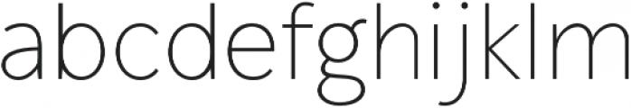 Mucho Sans Thin otf (100) Font LOWERCASE