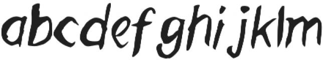 Mugglebrush otf (400) Font LOWERCASE