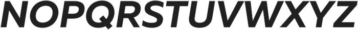 Muller Bold Italic otf (700) Font UPPERCASE