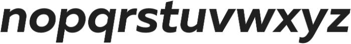 Muller Bold Italic otf (700) Font LOWERCASE
