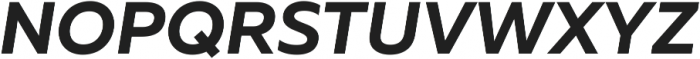 Muller Bold Italic ttf (700) Font UPPERCASE