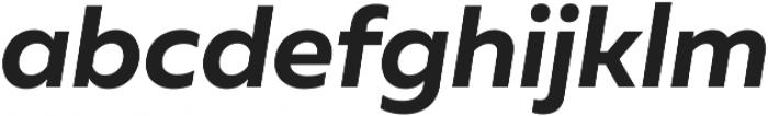 Muller Bold Italic ttf (700) Font LOWERCASE
