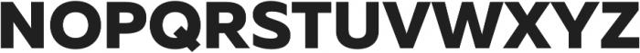 Muller ExtraBold otf (700) Font UPPERCASE