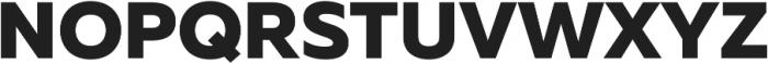 Muller ExtraBold ttf (700) Font UPPERCASE