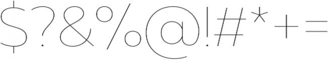 Muller Hairline otf (100) Font OTHER CHARS