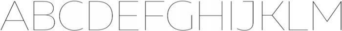 Muller Hairline otf (100) Font UPPERCASE