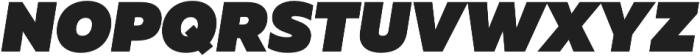 Muller Heavy Italic otf (800) Font UPPERCASE