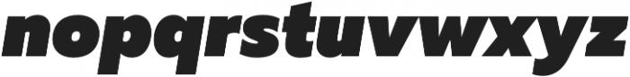 Muller Heavy Italic otf (800) Font LOWERCASE