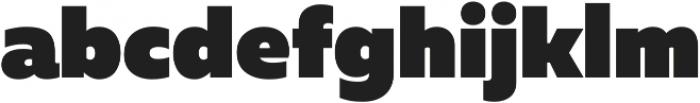 Muller Heavy ttf (800) Font LOWERCASE