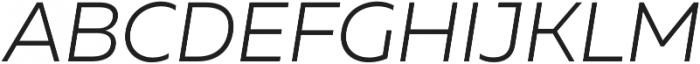 Muller Light Italic otf (300) Font UPPERCASE