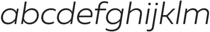 Muller Light Italic otf (300) Font LOWERCASE