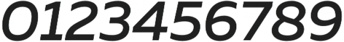 Muller Medium Italic otf (500) Font OTHER CHARS