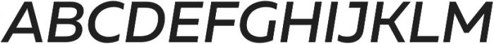 Muller Medium Italic otf (500) Font UPPERCASE