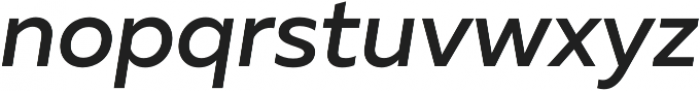 Muller Medium Italic otf (500) Font LOWERCASE