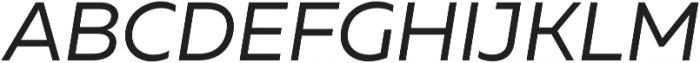 Muller Regular Italic otf (400) Font UPPERCASE