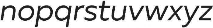 Muller Regular Italic otf (400) Font LOWERCASE