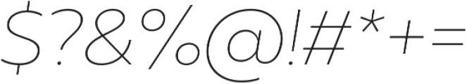 Muller Thin Italic otf (100) Font OTHER CHARS