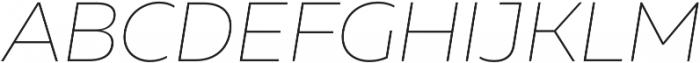 Muller Thin Italic otf (100) Font UPPERCASE