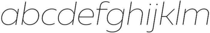 Muller Thin Italic otf (100) Font LOWERCASE