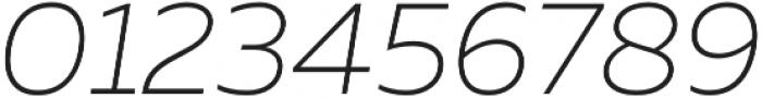 Muller UltraLight Italic otf (300) Font OTHER CHARS