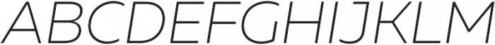 Muller UltraLight Italic otf (300) Font UPPERCASE