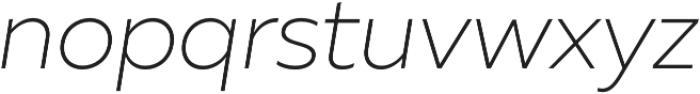 Muller UltraLight Italic otf (300) Font LOWERCASE