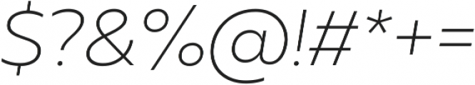 Muller UltraLight Italic ttf (300) Font OTHER CHARS