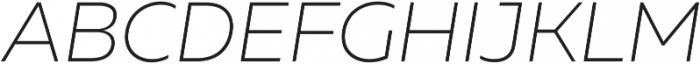 Muller UltraLight Italic ttf (300) Font UPPERCASE