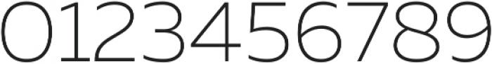 Muller UltraLight ttf (300) Font OTHER CHARS