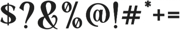 Mullion otf (400) Font OTHER CHARS