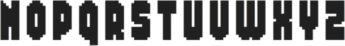 MultiType Pixel Compact Bold otf (700) Font UPPERCASE