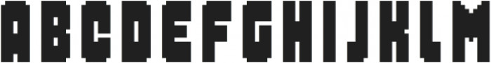 MultiType Pixel Compact Bold otf (700) Font LOWERCASE