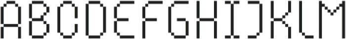 MultiType Pixel Compact Thin SC otf (100) Font UPPERCASE