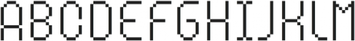 MultiType Pixel Compact Thin SC otf (100) Font LOWERCASE