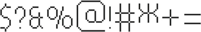 MultiType Pixel Compact Thin otf (100) Font OTHER CHARS