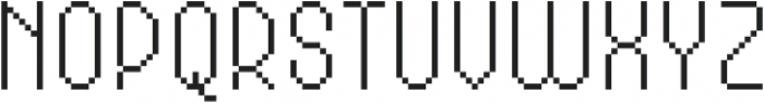 MultiType Pixel Compact Thin otf (100) Font UPPERCASE