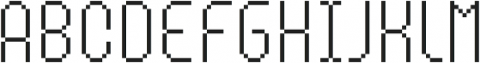 MultiType Pixel Compact Thin otf (100) Font LOWERCASE
