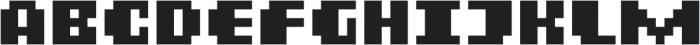 MultiType Pixel Display Bold otf (700) Font UPPERCASE