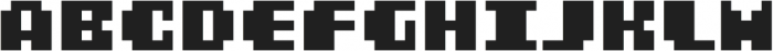 MultiType Pixel Display Bold otf (700) Font LOWERCASE