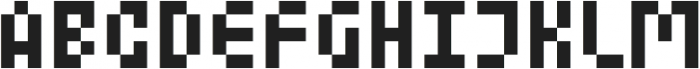 MultiType Pixel Display Narrow otf (400) Font UPPERCASE