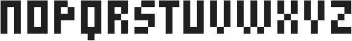 MultiType Pixel Display Narrow otf (400) Font LOWERCASE